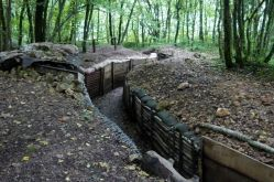 A reconstitution of a French trench in